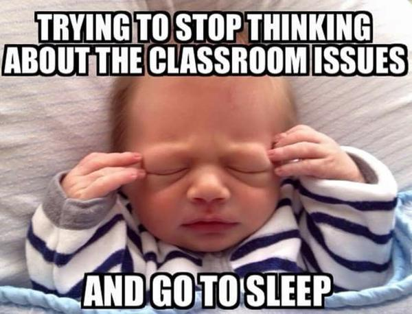 teacher sleeping meme