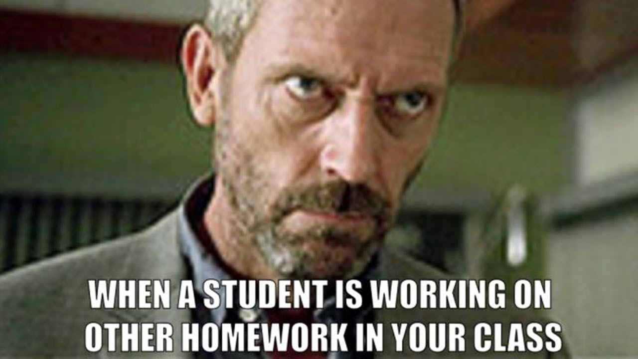 when a student is working on other homework in your class