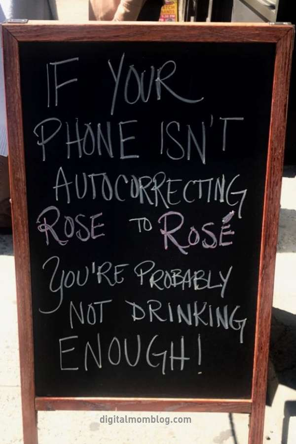 PHONE AUTOCORRECT ROSE WINE MEME