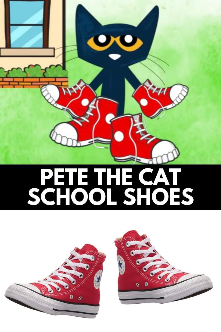 PETE THE CAT SHOES red converse shoes like pete the cat