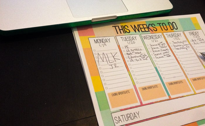 free kids weekly planner pdf to do