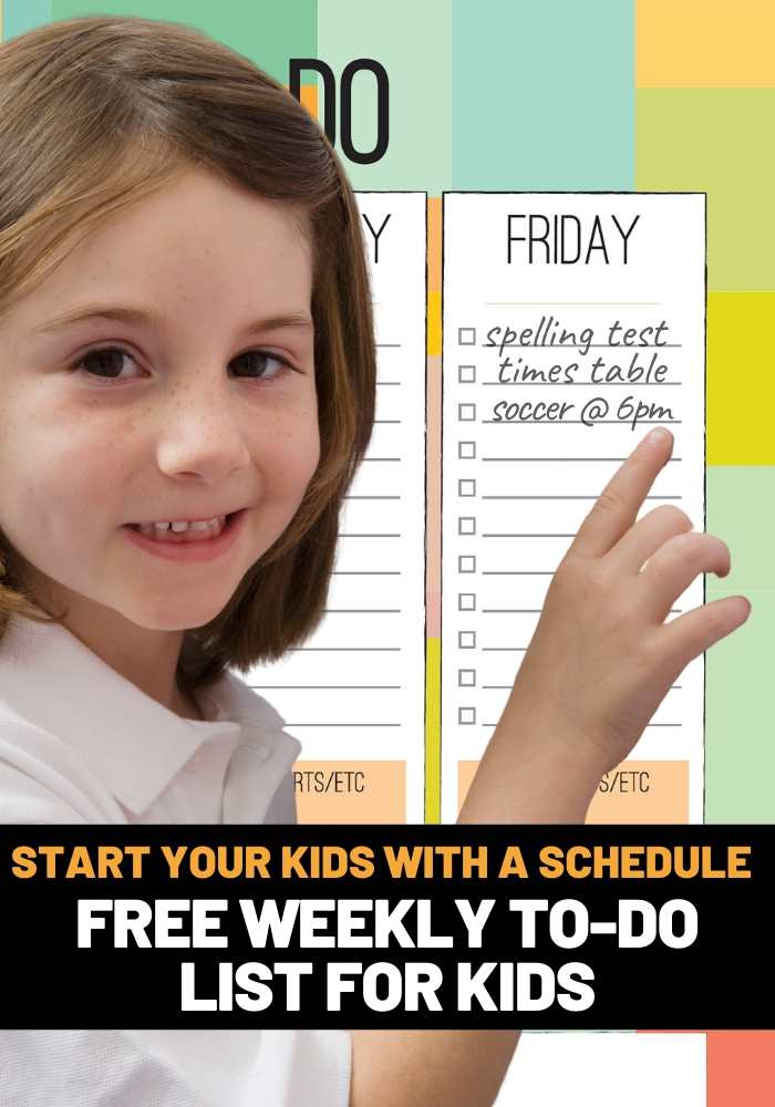 weekly planner pdf for kids