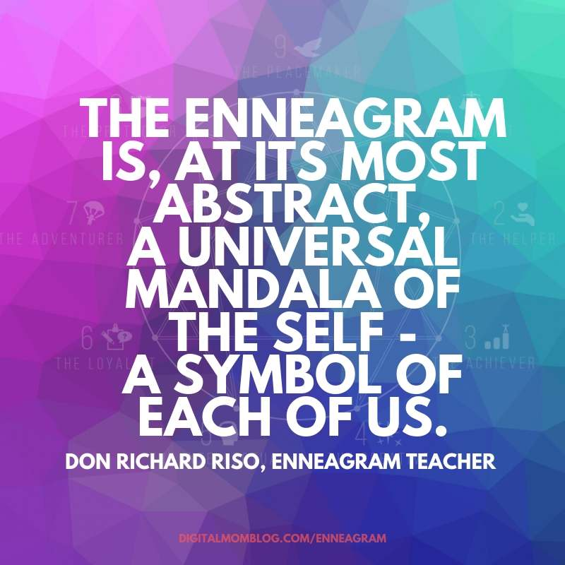 abstract mandala enneagram quote