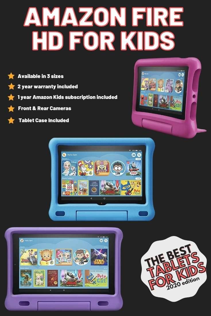 amazon fire kindle for kids best kids tablet 2020
