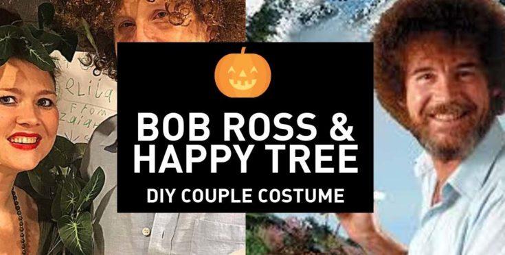 Bob Ross and His Happy Tree Halloween Couples Costume