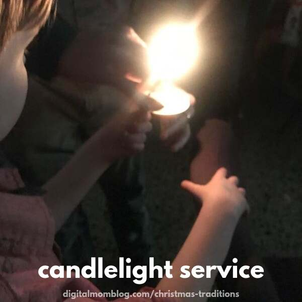 candlelight church service family christmas tradition