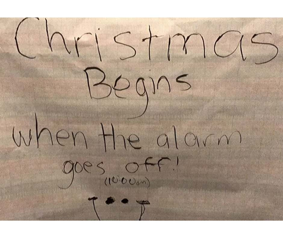christmas morning alarm