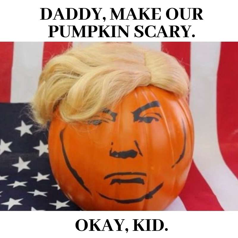 scary halloweentrump meme