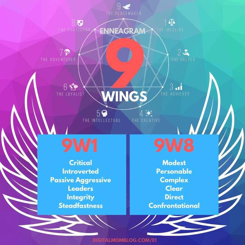 enneagram 9 wings