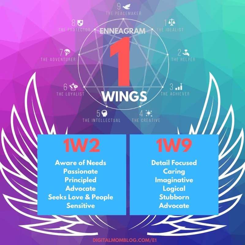 enneagram one wings