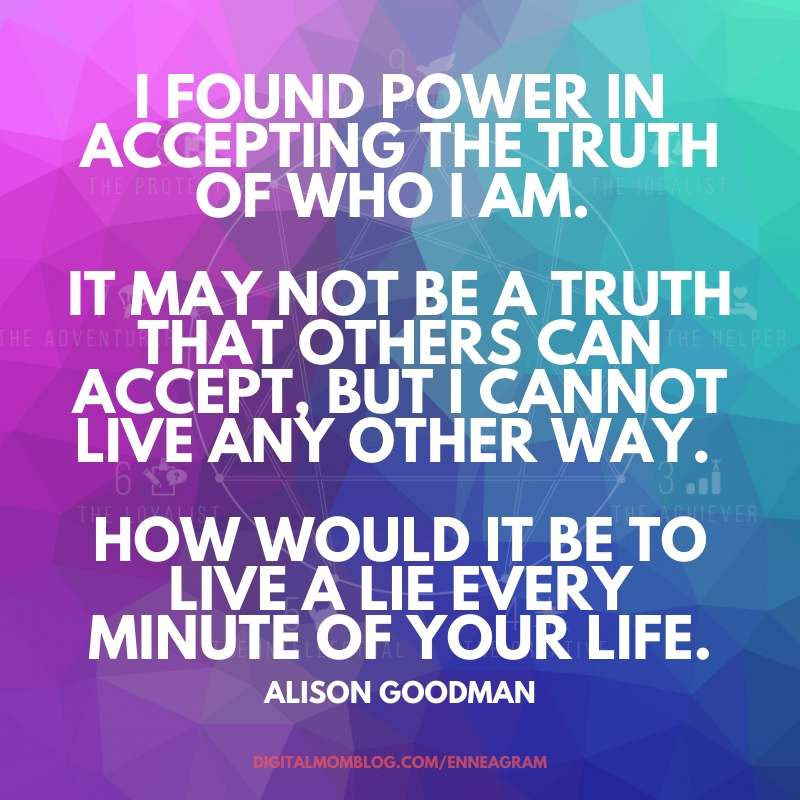 enneagram quote accept truth