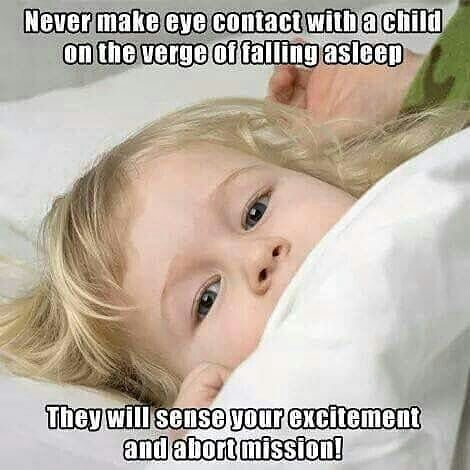 eye contact baby meme
