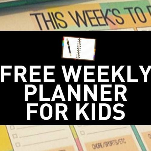 Free Kids Weekly Planner PDF – Use This Printable To Get Your Kids on a Schedule