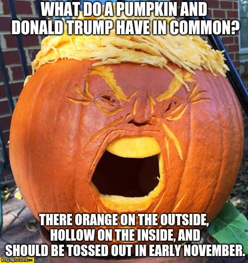 pumpkin trump meme