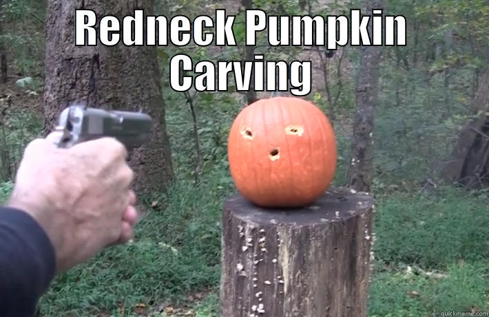 redneck pumpkin carving