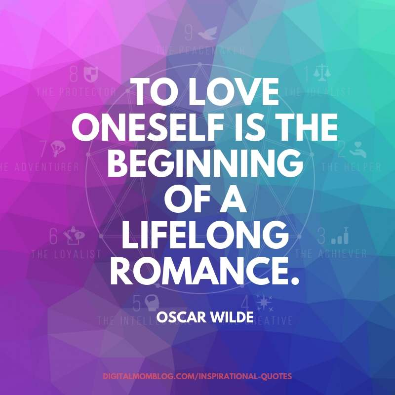 to love oneself oscar wilde quote