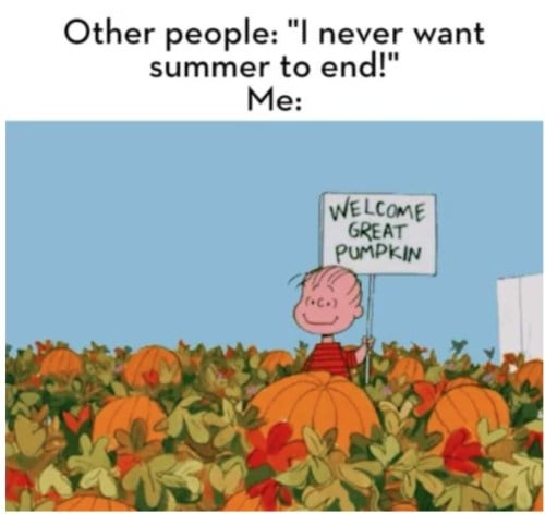 welcoem great pumpkin charlie brown meme