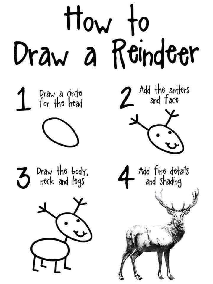 how-to-draw-a-reindeer