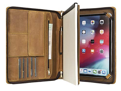 Handcrafted Leather iPad Portfolio - High End Executive Case