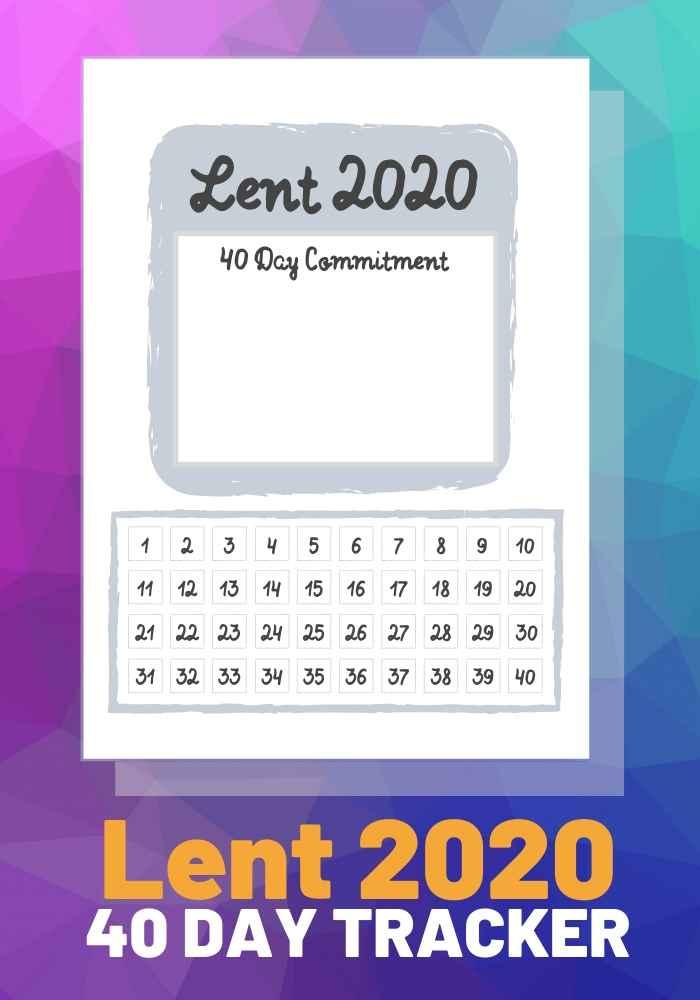 40 day lent tracker