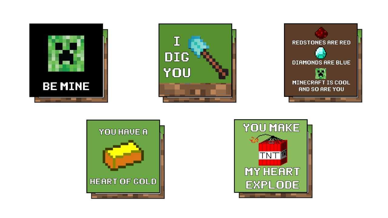 minecraft vday cardpdf