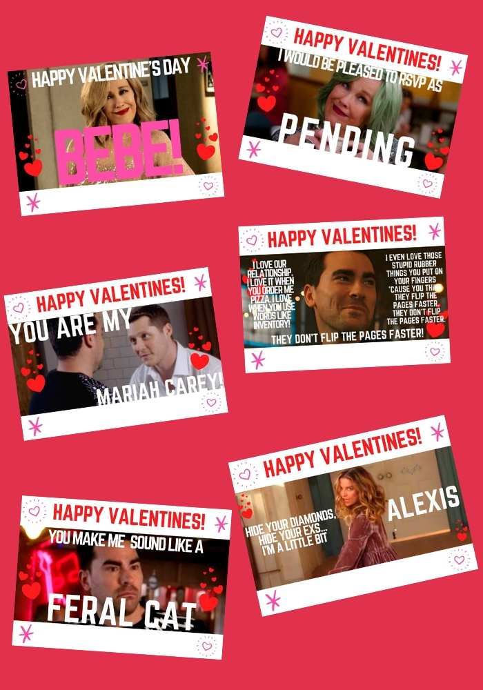 schitt's creek vday cards quotes from show