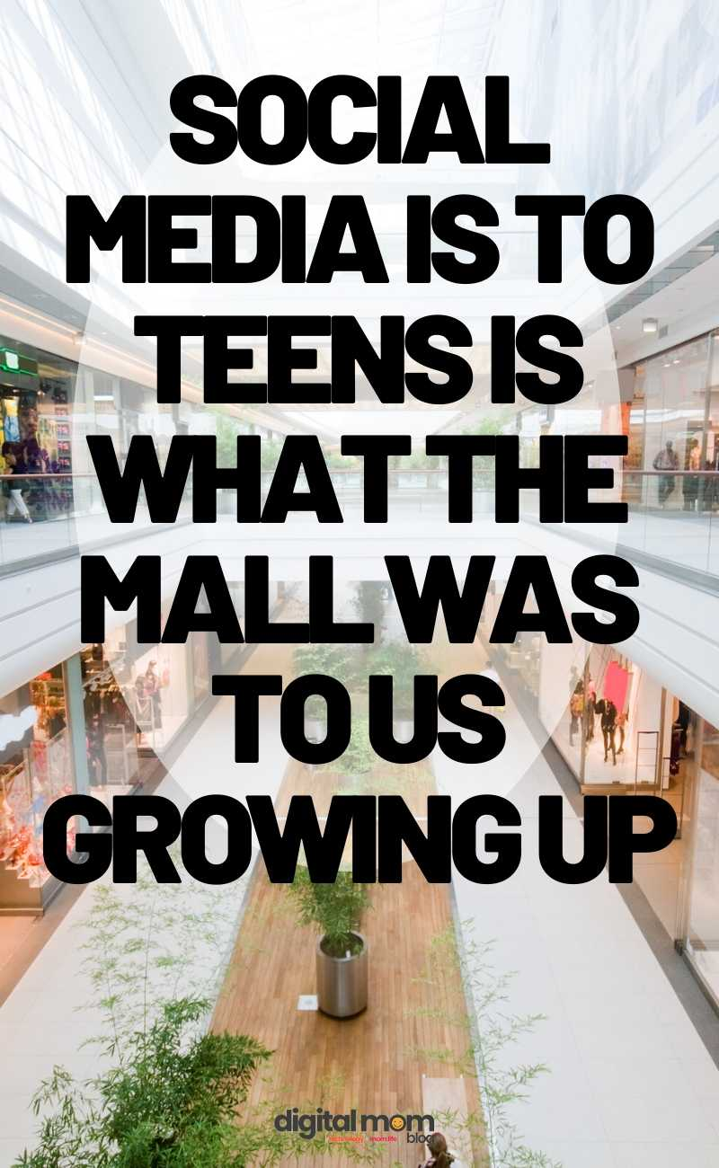 social media is like a mall to teens