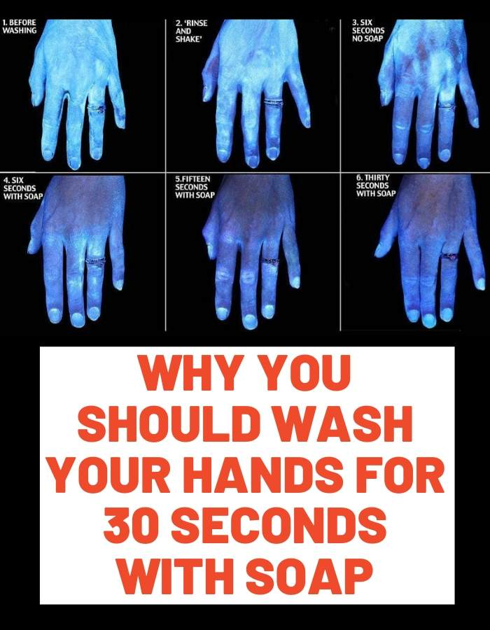 30 seconds of hand washing