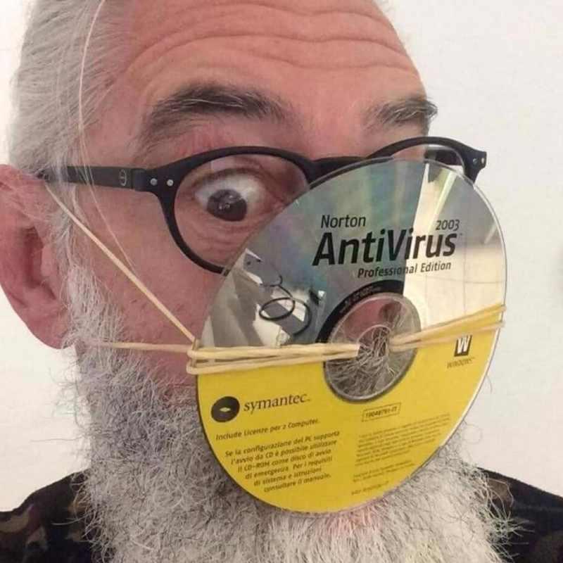 anti coronavirus mask meme