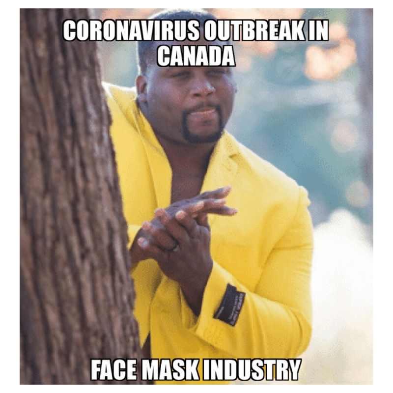 coronavirus face mask meme