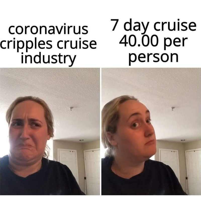 coronavirus meme cruise