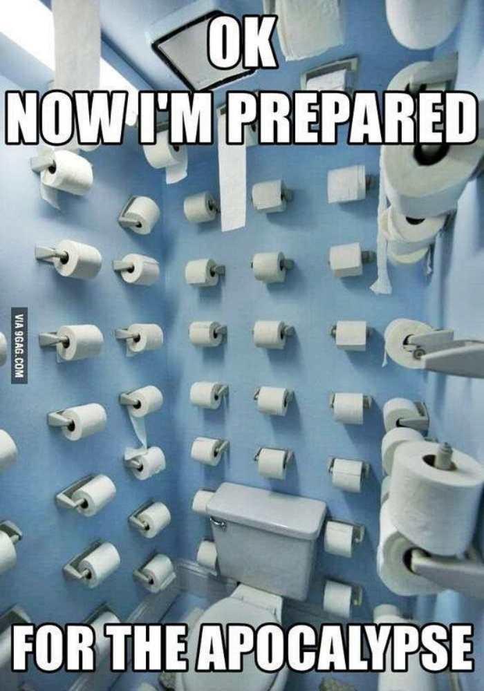 coronavirus toilet paper preparation meme