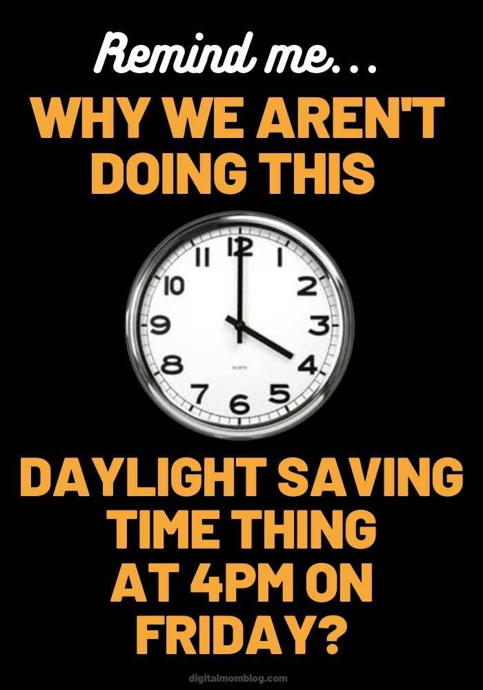 daylight savings time meme friday