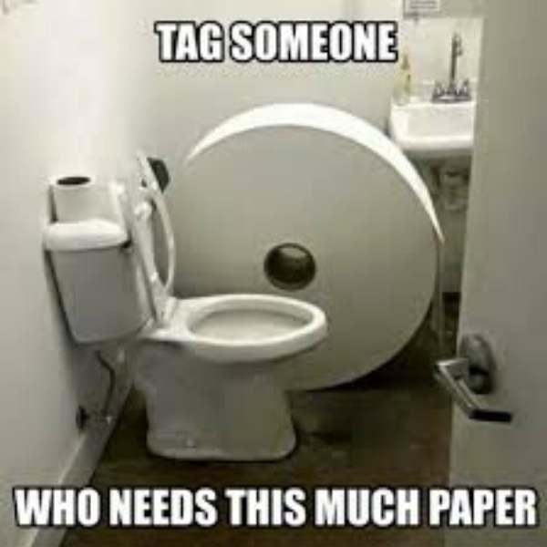extra toilet paper meme needed