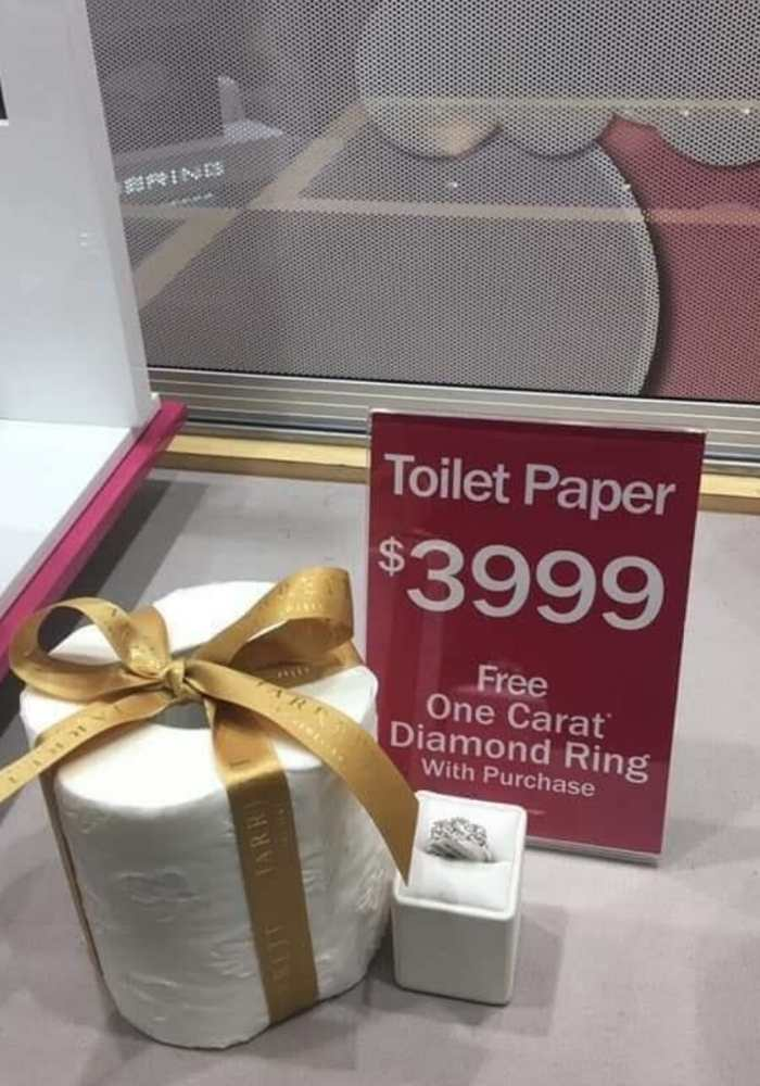 free ring with toilet paper purchase