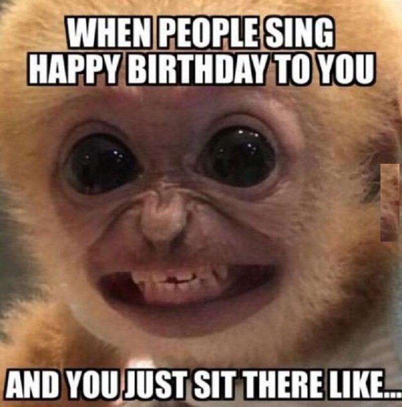 When people sing happy birthday meme