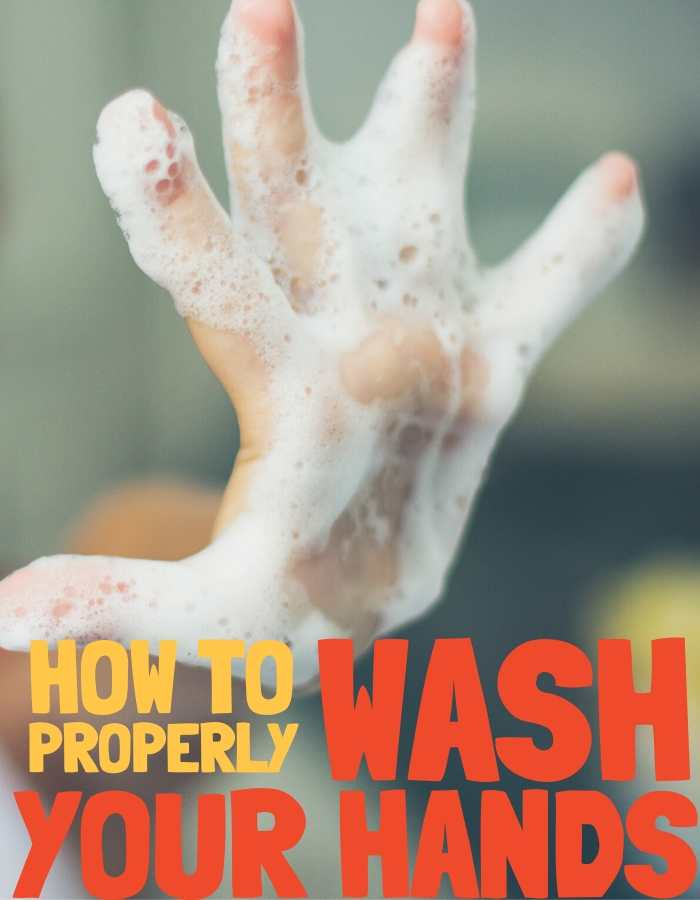 how to wash your hands properly image