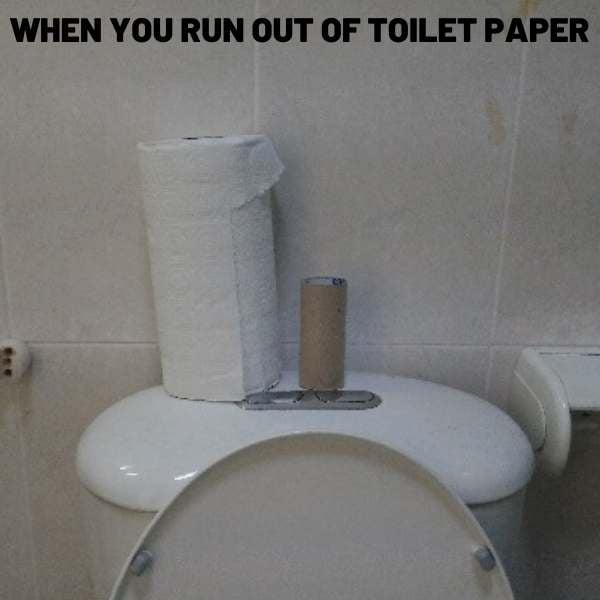 last resort toilet paper meme