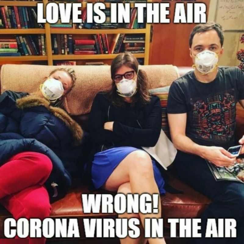 love is in the air coronavirus meme