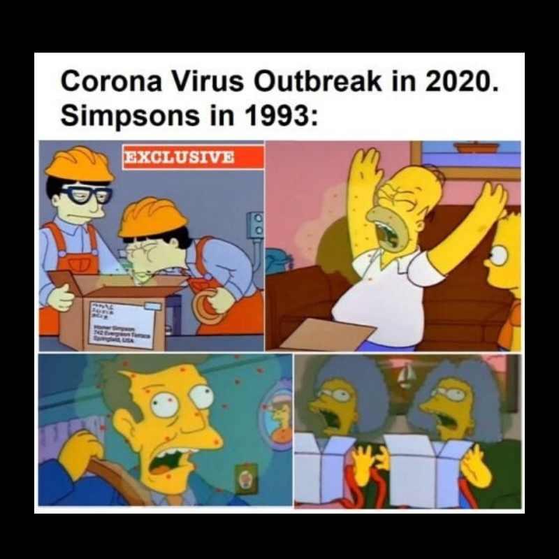 simpsons corona virus meme