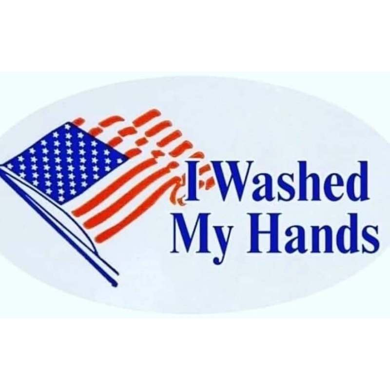 washed my hands sticker