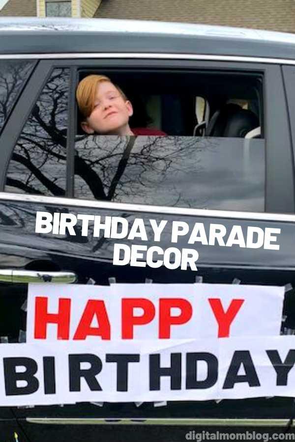 Happy Birthday Parade Decorate a Car