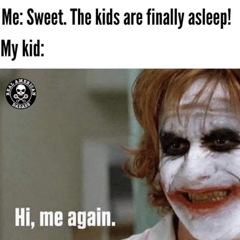 sleeping toddler meme