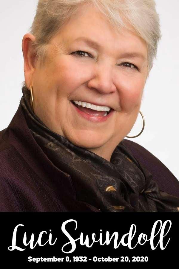 Luci Swindoll Women of Faith 2020 RIP