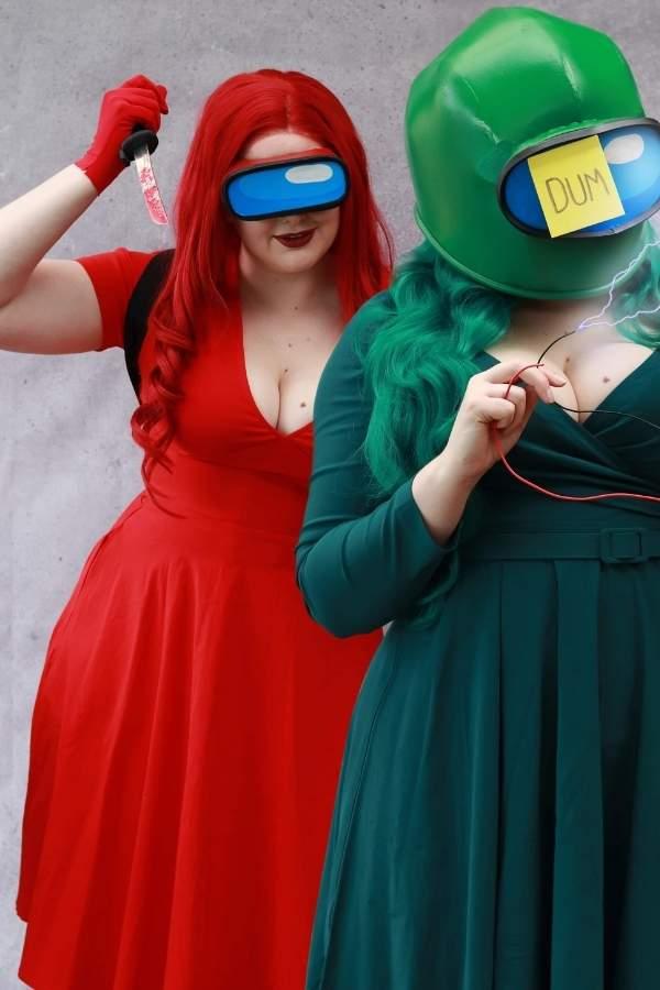 among-us-costume-girls