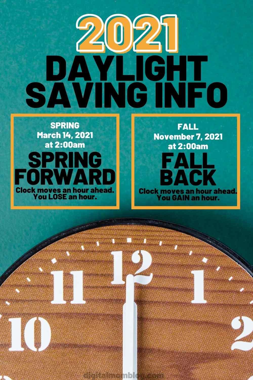 daylight savings 2021 spring fall