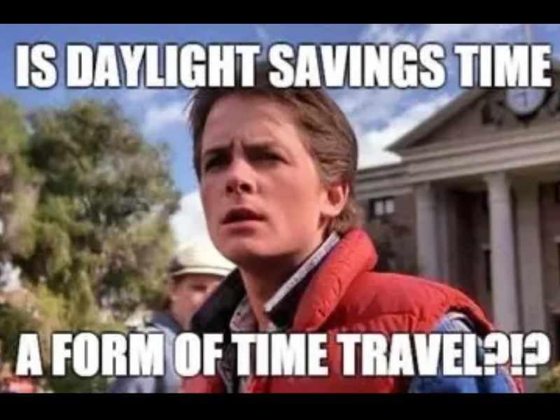 daylight savings time travel meme back to the future