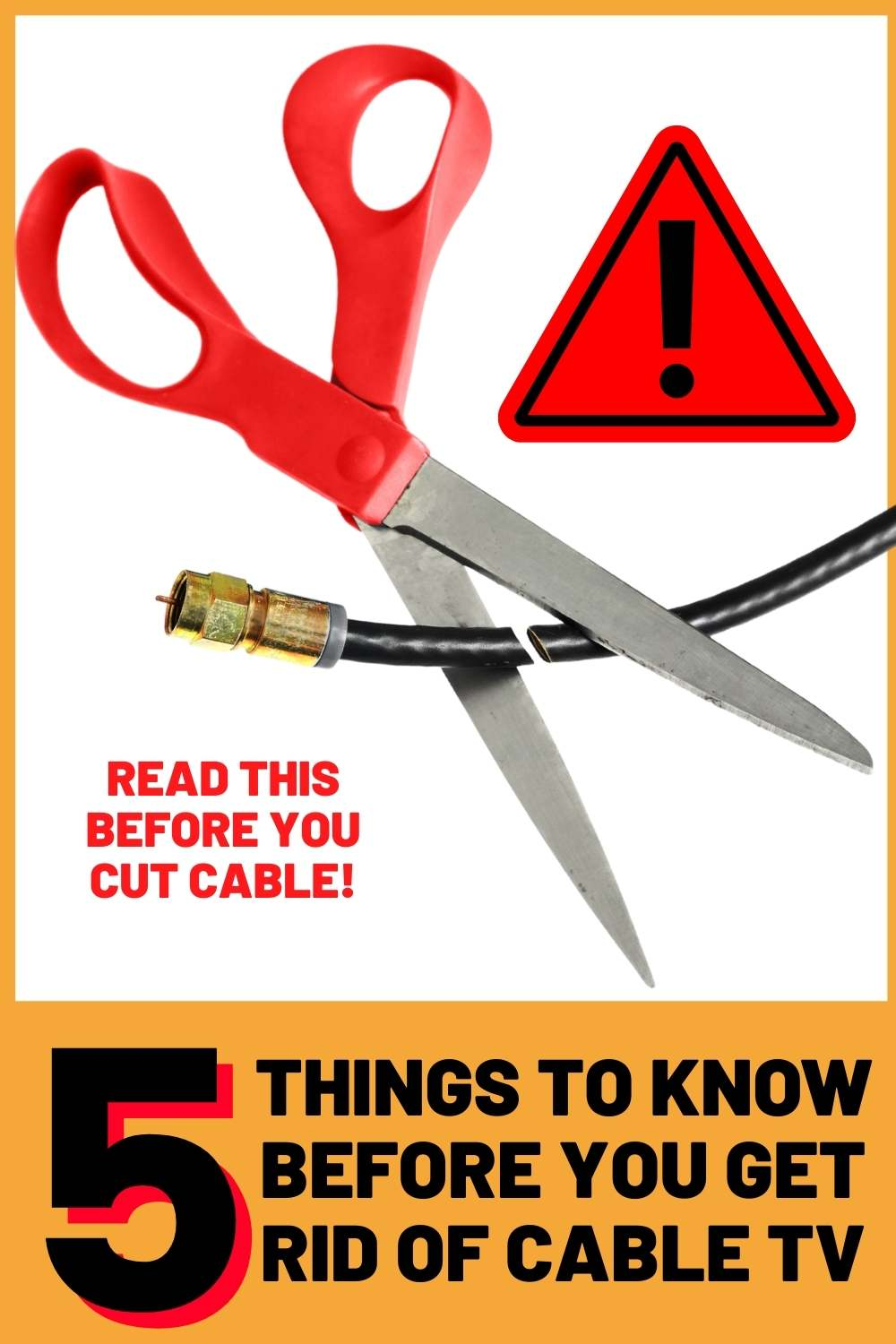 tips for getting rid of cable tv