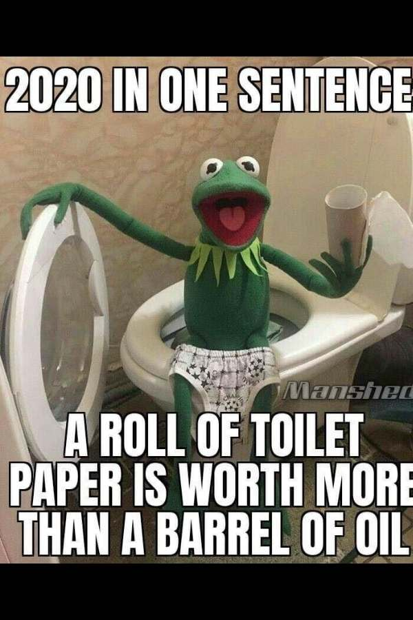 Toilet Paper Worth More Than Oil! 2020 Meme