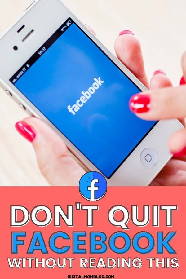 Before You Quit Facebook Read This